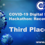 Badge for third place winner in COVID-19 Digital Sprint Hackathon